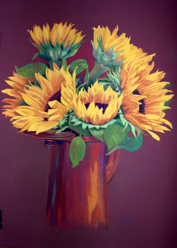 Sunshine in a Pot (pastel, 2006)