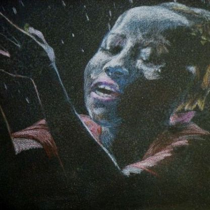Rain (oil pastel, 2014)