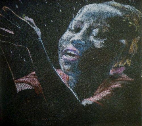 Rain (oil pastel,2014)